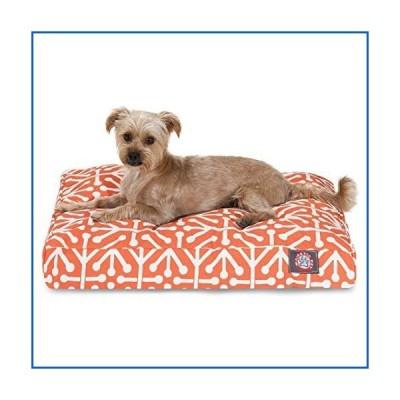 <新品>Orange Aruba Small Rectangle Indoor Outdoor Pet Dog Bed With Removable Washable Cover By Majestic Pet Products<並行輸入品