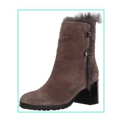 【新品】Aquatalia Women's Evangeline Suede Ankle Boot, Anthracite, 12 M M US(並行輸入品)