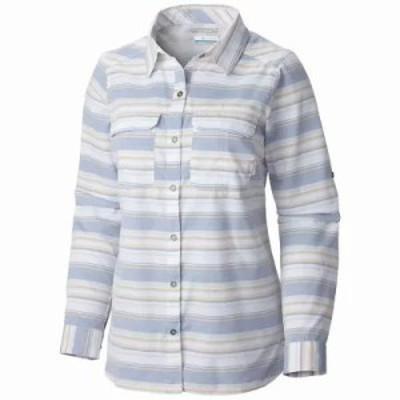 コロンビア ブラウス・シャツ Columbia Pilsner Peak Stripe LS Shirt Bluebell Stripe