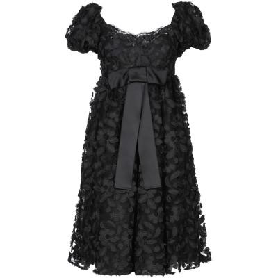 ドルチェ & ガッバーナ DOLCE & GABBANA ミニワンピース&ドレス ブラック 38 コットン 100% ミニワンピース&ドレス