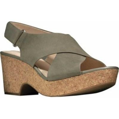 クラークス レディース サンダル シューズ Women's Clarks Maritsa Lara Platform Sandal Sage Nubuck