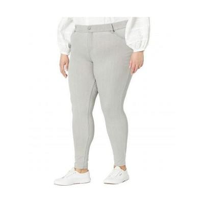 HUE ヒュー レディース 女性用 ファッション ジーンズ デニム Plus Size High-Waist Ultra Soft Denim Leggings - Silver/Grey Wash