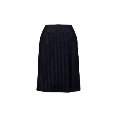 ストライプ美型 プリーツスカート 神馬本店 E2252A グレー/M