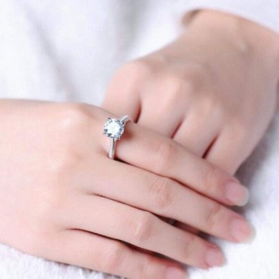 Jude Jewelers Stainless Steel 2.0 Carat Wedding Engagement Propose Sta