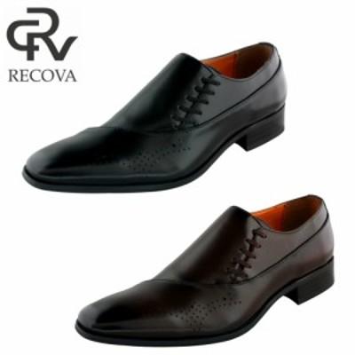 レコバ  R-764 メンズビジネスシューズ 紳士革靴 サイドレースアップ メダリオン 安心の日本製  RECOVA R-764【送料無料】