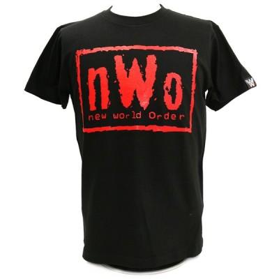 XXLサイズ:AT×WWE nWo EX (黒×赤) ブラックTシャツ
