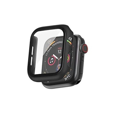 ALUBES for Apple Watch Series 6/SE カバー ケース 液晶全面保護カバー 40mm Apple Watch PC フレーム 9H ガラスフィルム 耐衝撃 超軽量 一体感 防塵 取扱