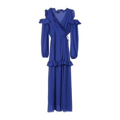 ピンコ PINKO ロングワンピース&ドレス ブルー 44 100% ポリエステル ロングワンピース&ドレス