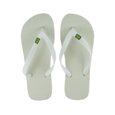 ハワイアナス ユニセックス アダルト 靴HAVAIANAS ユニセックス BRAZIL サンダル SOLID ホワイト BRA 35/36 US 4/5 EUR 37/38