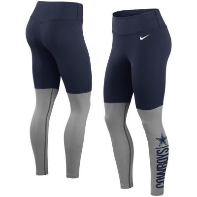 ナイキ レディース カジュアルパンツ ボトムス Dallas Cowboys Nike Women's Logo Stack Performance Leggings