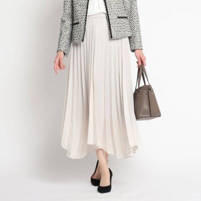 シューラルー SHOO-LA-RUE 【フリーサイズ】ドラマティック変形プリーツスカート (ライトグレー)