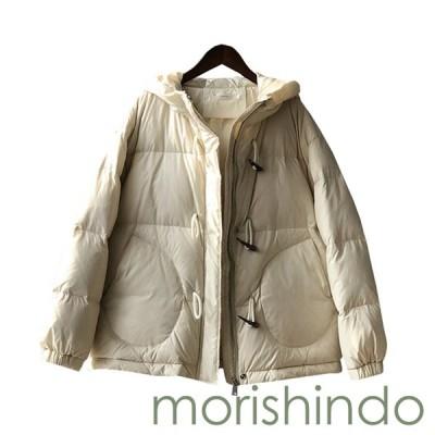 ダウンジャケット レディース M/L 大きいサイズ ショート丈 フード付き 冬 厚手 防寒 防風 暖かい 中綿 ダウンコート オシャレ