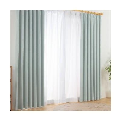 カーテン 遮光なし ドレープカーテン 形状記憶付き ナチュラル 杢調 幅100~200 丈90~230 国産 40サイズ展開 おしゃれ ウォッシャブル 代引不可