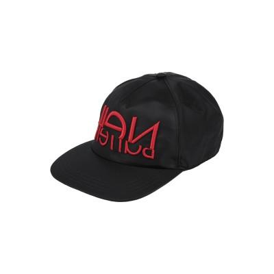 ニール・バレット NEIL BARRETT 帽子 ブラック one size ナイロン 100% 帽子