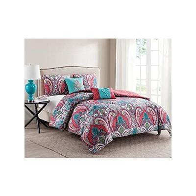 """vcnyホームCasa Re 'al 5Piece Comforter Set FULL/QUEEN 90"""" X 90"""" C10-5CS-FUQU-"""