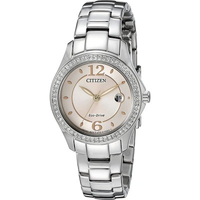シチズン Citizen 女性用エコドライブシルエットクリスタルウォッチ FE1140-86X 時計