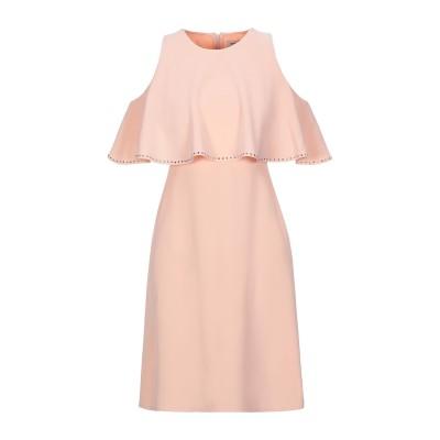 ANGELO MARANI ミニワンピース&ドレス あんず色 40 ポリエステル 95% / ポリウレタン 5% ミニワンピース&ドレス