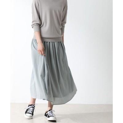 スカート 綿ギャザースカート