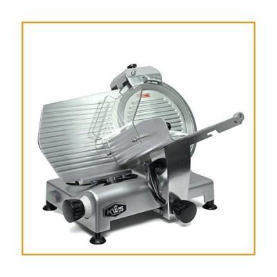 [新品]KWS MS-12NS Premium Commercial 420w Electric Meat Slicer 12-Inch Stainless Steel Blade, Frozen Meat/ Cheese/ Food Slicer Low Noi