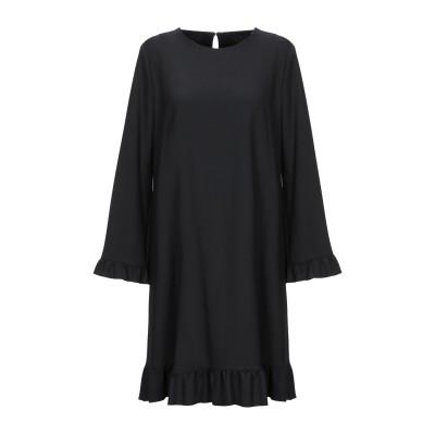 ブルー レ・コパン BLUE LES COPAINS ミニワンピース&ドレス ブラック 38 ポリエステル 53% / ウール 43% / ポリウレ