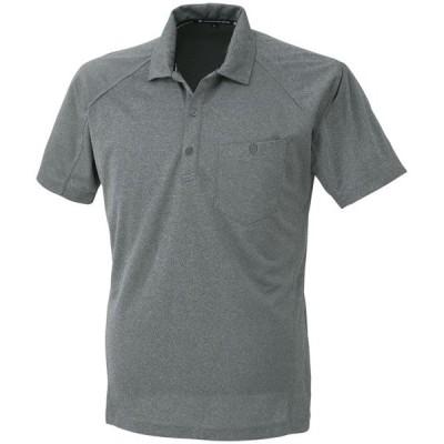 コーコス 半袖ポロシャツ モクグレー M ※取寄品 A-4377