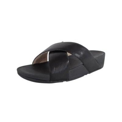 レディース 靴 ミュール Fitflop Womens Lulu Cross Glitz Slide Sandal Shoes