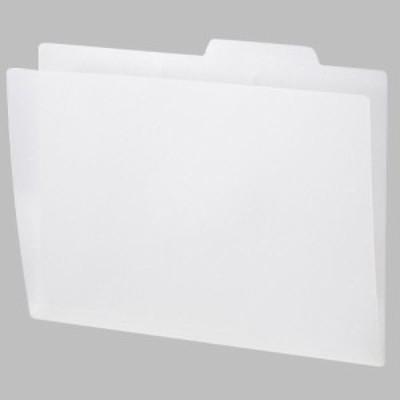 PP製個別フォルダー A4 ホワイト 1セット(50冊:5冊×10パック)