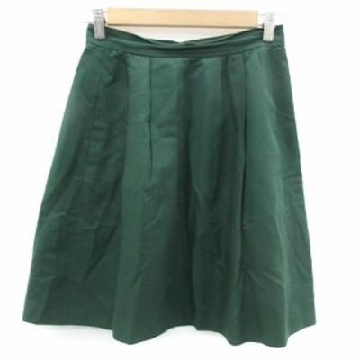 【中古】ボールジー BALLSEY トゥモローランド スカート フレア ひざ丈 シルク混 36 グリーン 緑 /YM16 レディース