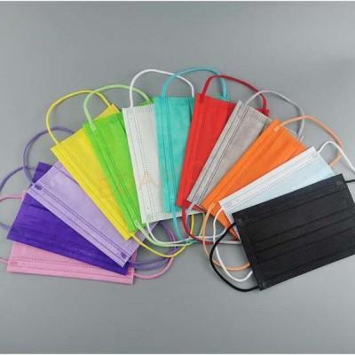 マスク 50枚 10枚*5包 使い捨て 不織布マスク 子供用 飛沫  花粉症対策 三層構造 男女兼用 12color