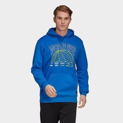 アディダス メンズ パーカー adidas Athletics Pack Hoodie トップス Blue/White