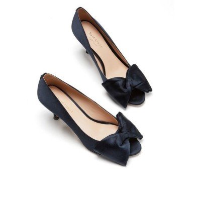 ケイト スペード パンプス シューズ レディース Crawford Peep-Toe Bow Pumps Blazer Blue