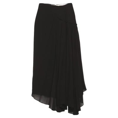 ロシャス ROCHAS ロングスカート ブラック 38 シルク 100% ロングスカート