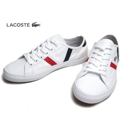 ラコステ LACOSTE CFA046M SIDELINE TRI 2 ホワイトネイビーレッド スニーカー レディース 靴
