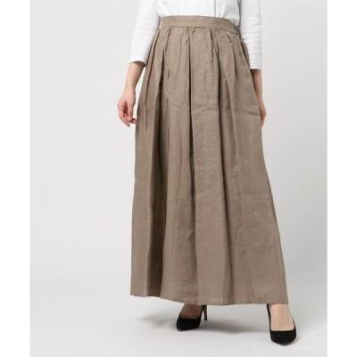 スカート リネンギャザースカート