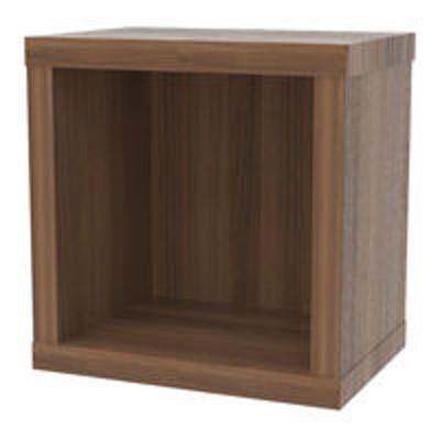 白井産業白井産業 セパルテック 重厚感のある本棚 書庫 セミオーダーラック A4ファイル対応 木製 ダークブラウン 幅405×奥行283×高さ414mm(直送品)