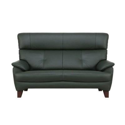 ソファ  2.5ソファ ノーヴァ 半革グリーン色 #OM451 大塚家具(IDC OTSUKA)