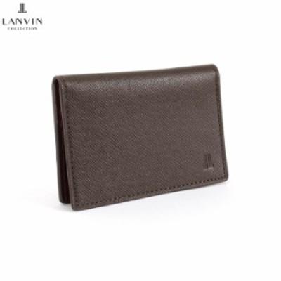 展示品箱なし ランバンコレクション パスケース 定期入れ カードケース 茶 jlmw0gp1-20 LANVIN collection メンズ 紳士 バーゲン