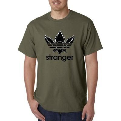 ユニセックス 衣類 トップス Trendy USA 1318 - Unisex T-Shirt Stranger Demogorgon Mind Flayer Logo Parody Small Military Green Tシャツ