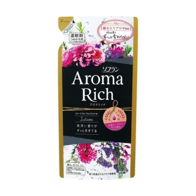 [ライオン]ソフラン アロマリッチ 柔軟剤 ジュリエット(スイートフローラルアロマの香り) 詰め替え 400ml