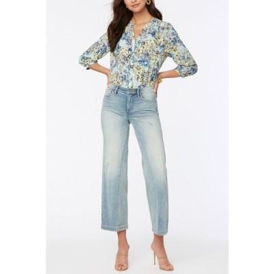 エヌワイディージェイ デニムパンツ ボトムス レディース Petite Teresa Wide Leg Ankle Jeans with Contoured Inseams Radiance