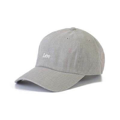 リー(Lee) 綿麻 ロゴ キャップ ローキャップ 帽子 CAP ミニロゴ 春 夏 LINEN LOW CAP 001 (03 グレー)