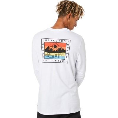ディパクタス Depactus メンズ 長袖Tシャツ トップス above ls tee White