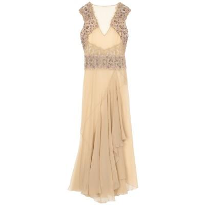 アルベルタ フェレッティ ALBERTA FERRETTI ロングワンピース&ドレス サンド 48 シルク 100% ロングワンピース&ドレス