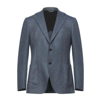 TOMBOLINI テーラードジャケット ブルーグレー 50 バージンウール 100% テーラードジャケット