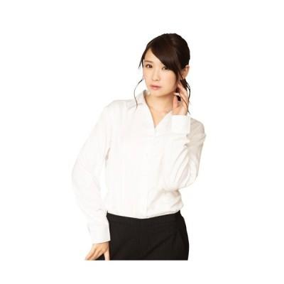 機能性 ビジネスシャツ スキッパー S 白