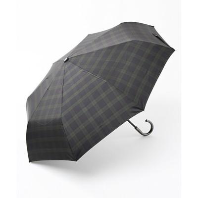 <RAMUDA(Men)/ラムダ> 晴雨兼用折り畳み傘/ブラックウォッチ/耐風ミニ(ISNM‐1406) ネイビー【三越伊勢丹/公式】