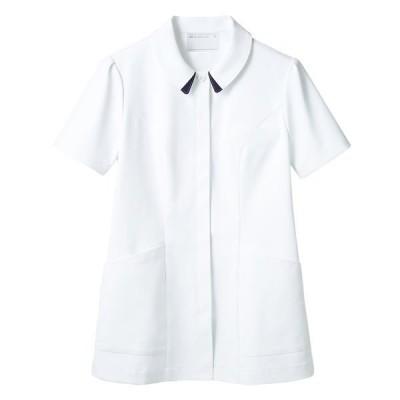 住商モンブラン住商モンブラン ナースジャケット(半袖) 医療白衣 レディス 白/ネイビー LL 73-1868(直送品)