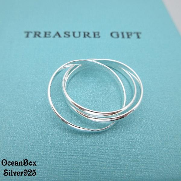 §海洋盒子§質感三環設計925純銀戒指
