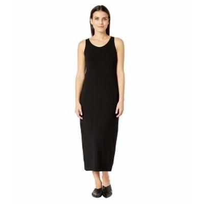 エイリーンフィッシャー レディース ワンピース トップス Petite Viscose Jersey Scoop Neck Dress Black