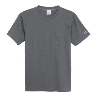 チャンピオン ポケット 半袖 Tシャツ ポケT 吸水速乾 チャコール CHAMPION POCKET T-SHIRTS CHACOAL C3-K344